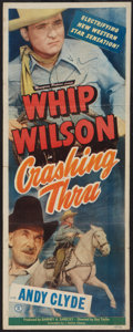 "Movie Posters:Adventure, Crashing Thru (Monogram, 1949). Insert (14"" X 36""). Adventure.. ..."