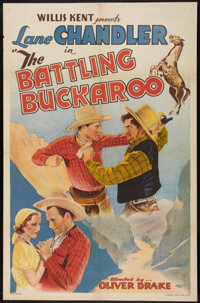 "The Battling Buckaroo (Norman, 1932). One Sheet (27"" X 41""). Western"