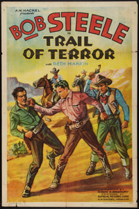 "Trail of Terror (Supreme, 1935). One Sheet (27"" X 41""). Western"