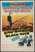 """Movie Posters:Thriller, Bad Day at Black Rock (MGM, 1955). One Sheet (27"""" X 41""""). Thriller.. ..."""