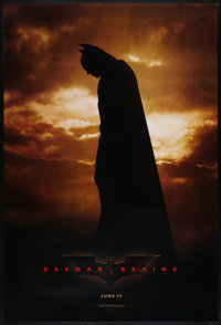 """Batman Begins (Warner Brothers, 2005). One Sheets (2) (27"""" X 40"""") A and B DS Advance Styles. Action. ... (Tota..."""