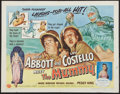 "Movie Posters:Comedy, Abbott and Costello Meet the Mummy (Universal International, 1955). Half Sheet (22"" X 28"") Style A. Comedy.. ..."