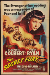 "The Secret Fury (RKO, 1950). One Sheet (27"" X 41""). Mystery"