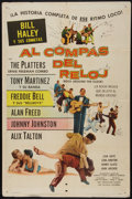 "Movie Posters:Rock and Roll, Rock Around the Clock (Columbia, 1956). Spanish One Sheet (27"" X41""). Rock and Roll.. ..."