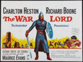 "Movie Posters:War, The War Lord (Universal, 1965). British Quad (30"" X 40""). War.. ..."