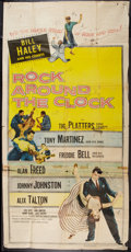 "Movie Posters:Rock and Roll, Rock Around the Clock (Columbia, 1956). Three Sheet (41"" X 81"").Rock and Roll.. ..."