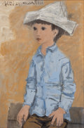 American:Portrait & Genre, FLETCHER MARTIN (American, 1904-1979). Small Soldier, 1966. Oil on canvas. 30 x 20 inches (76.2 x 50.8 cm). Signed upper...