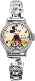 Timepieces:Wristwatch, Ingersoll Mickey Mouse Wristwatch, Original Box & Papers. ...
