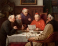 Paintings, PROPERTY FROM A DALLAS PRIVATE COLLECTION. JOSEF WAGNER-HÖHENBERG (German, 1870-1938). A Meeting of the Cardinals (Catho...