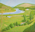 Paintings, FRANK VINCENT DUMOND (American, 1865-1951). Salmon Fishing in the Margaree River, Cape Breton, Nova Scotia, circa 1920. ...