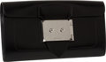 "Luxury Accessories:Bags, Hermes Black Box Leather Goodlock Clutch Wristlet, 11"" x 5.5"" x1.5"", Pristine Condition. ..."