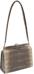 "Luxury Accessories:Bags, Judith Leiber Ombre Lizard Classic Vintage Bag, 8.5"" x 6"" x 3"",Excellent Condition. ..."