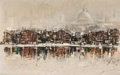 Paintings, BEN MAILE (British, 20th Century). European City Scene, 1961. Oil on board. 22 x 35 inches (55.9 x 88.9 cm). Signed and ...