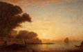 Paintings, FÉLIX FRANÇOIS GEORGES PHILIBERT ZIEM (French, 1821-1911). Venetian Scene . Oil on panel . 11 x 16 inches (27.9 x 40.6 c...