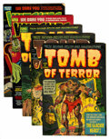 Golden Age (1938-1955):Horror, Tomb of Terror and Witches Tales Group File Copies (Harvey,1951-53).... (Total: 5 Comic Books)