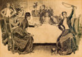 Mainstream Illustration, CHARLES DANA GIBSON (American, 1867-1944). The Story of theHunt, 1898. Pen and ink on paper. 18.5 x 26.5 in.. Signed lo...