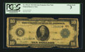 Large Size:Federal Reserve Note, Fr. 951a* $10 1914 Federal Reserve Note PCGS About Good 03.. ...