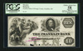 Obsoletes By State:Ohio, Franklin, OH- Franklin Bank $10 G16 Wolka 1120-15 Proof. ...