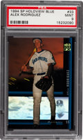 Baseball Cards:Singles (1970-Now), 1994 SP Holoview Blue Alex Rodriguez #33 PSA Mint 9....