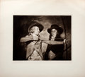 Antiques:Posters & Prints, Lithographic Plate of Two Seventeenth-Century Boys with a Bow and Arrow....