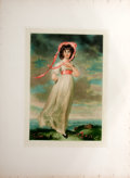 "Antiques:Posters & Prints, [Thomas Lawrence]. Chromolithograph of ""Pinkie"" After ThomasLawrence...."