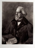 Antiques:Posters & Prints, Fritz von Kamptz. Lithographed Portrait of George JacobHolyoake....