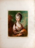 Antiques:Posters & Prints, Chromolithograph Portrait of an Eighteenth-Century Woman, PossiblyMarie Antoinette....