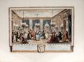Antiques:Posters & Prints, [A. J. Duclos, engraver]. Hand-colored engraving of an Eighteenth-Century Ball....