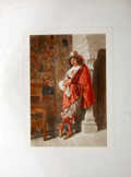 Antiques:Posters & Prints, Chromolithographic Portrait of a Cavalier in a Cloak....