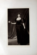Antiques:Posters & Prints, Tinted Lithographic Portrait of a Lady with a Rose....