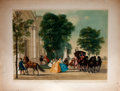 Antiques:Posters & Prints, C. Troost. Chromolithograph of People Arriving at an Estate from aCoach and Four....