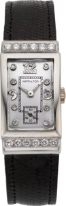 Timepieces:Wristwatch, Hamilton Diamond & White Gold Vintage Wristwatch, circa 1940's....