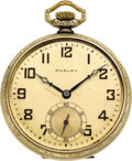 Timepieces:Pocket (post 1900), Dudley Watch Co. Model 2 Masonic Watch, No. 3284, circa 1930. ...