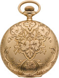 Timepieces:Pocket (post 1900), Waltham Choice 14k Gold 16 Size Hunters Case, circa 1901. ...
