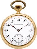 Timepieces:Pocket (post 1900), Vacheron & Constantin 21 Jewel 18K Gold Private Label, circa1911. ...
