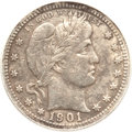 Barber Quarters, 1901-S 25C -- Heavily Corroded, Damaged, Tooled -- ANACS. VF20Details....