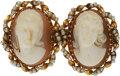 Estate Jewelry:Brooches - Pins, Shell Cameo, Seed Pearl, Gold Brooch. ...
