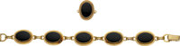 Black Onyx, Gold Jewelry Suite