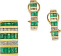 Estate Jewelry:Suites, Emerald, Diamond, Gold Jewelry Suite. ...