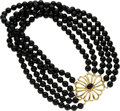 Estate Jewelry:Necklaces, Black Onyx, Gold Necklace, Paloma Picasso, Tiffany & Co.. ...