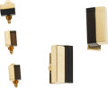 Estate Jewelry:Cufflinks, Gentleman's Smoky Quartz, Gold Dress Set, David Andersea, Danish. ...