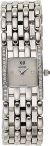 Estate Jewelry:Watches, Concord Lady's Diamond, White Gold Veneto Mini Wristwatch, recent....