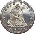 Proof Seated Quarters, 1874 25C Arrows PR66 Cameo PCGS....