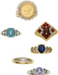 Estate Jewelry:Rings, Multi-Stone, Diamond, Gold Coin, Gold Rings. ...