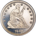 Proof Seated Quarters, 1886 25C PR66 Cameo NGC....