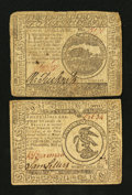 Colonial Notes:Continental Congress Issues, Continental Currency November 29, 1775 $4 Fine-Very Fine..Continental Currency May 9, 1776 $3 Very Fine.. ... (Total: 2notes)
