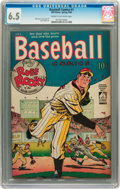 Golden Age (1938-1955):Miscellaneous, Baseball Comics #1 (Will Eisner, 1949) CGC FN+ 6.5 Cream to off-white pages....