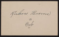 Baseball Collectibles:Others, 1943 Mordecai Brown Signed Government Postcard. ...