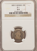 Early Dimes: , 1805 10C 5 Berries Good 4 NGC. JR-1. PCGS Population (4/27).(#4478)...