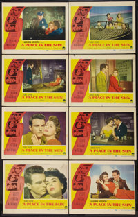 "A Place In The Sun (Paramount, 1951). Lobby Card Set of 8 (11"" X 14""). Drama. ... (Total: 8 Items)"